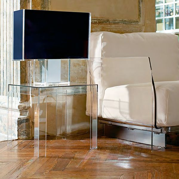 Jolly table basse de design kartell 40x40 cm en for Table exterieur kartell