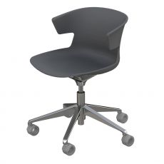 Cove Op - Operator chair for office, swivel and with casters, made of metal and polypropylen
