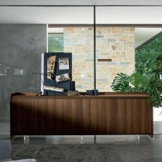 Slash-S - Dall'Agnese sideboard made of veneered wood, different colours and sizes available