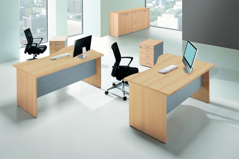 Idea panel scrivania per ufficio in laminato e metallo