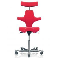 Capisco ® 8107 - Silla ergonómica de oficina HÅG, asiento en forma de sillín y reposacabeza