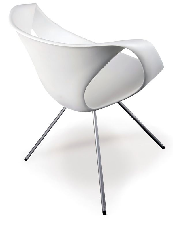 Up chair designer stuhl tonon aus metall und polyurethan for Design lederstuhl