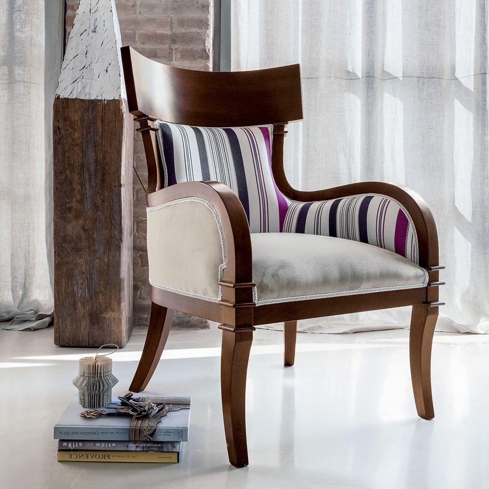 natasha 1550 klassischer sessel tonin casa aus holz in verschiedenen bez gen und farben. Black Bedroom Furniture Sets. Home Design Ideas