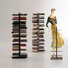 Zia Bice C - Libreria a colonna con mensole orizzontale, in legno massello, disponibile in diverse dimensioni e colori