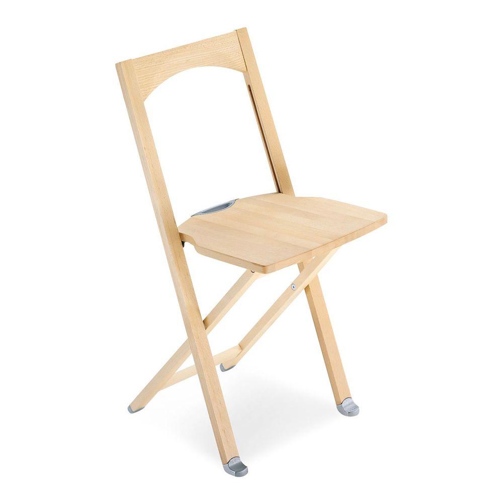 Cb208 olivia silla plegable connubia calligaris de - Sillas de madera plegables ...