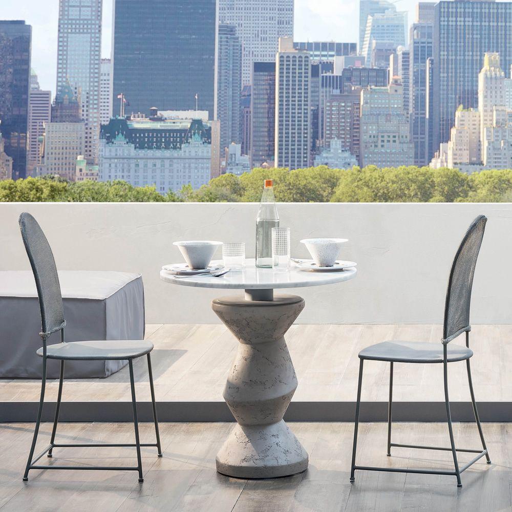 inout 837 838 runder tisch gervasoni aus beton mit platte aus marmor in verschiedenen gr en. Black Bedroom Furniture Sets. Home Design Ideas