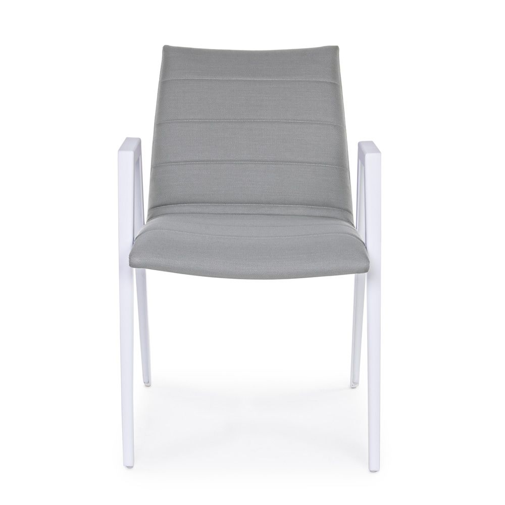 Roxa silla de aluminio con reposabrazos acolchado en - Sillas de jardin de aluminio ...