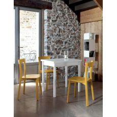 Hot-M - Tavolo Domitalia in legno e melaminico, 80 x 60 cm allungabile