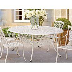 Castello T - Tavolo in alluminio disponibile in diverse misure, per giardino