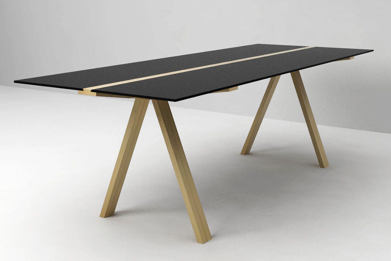 Traverso sbalzo tavolo valsecchi in legno con piano in for Tavolo hpl