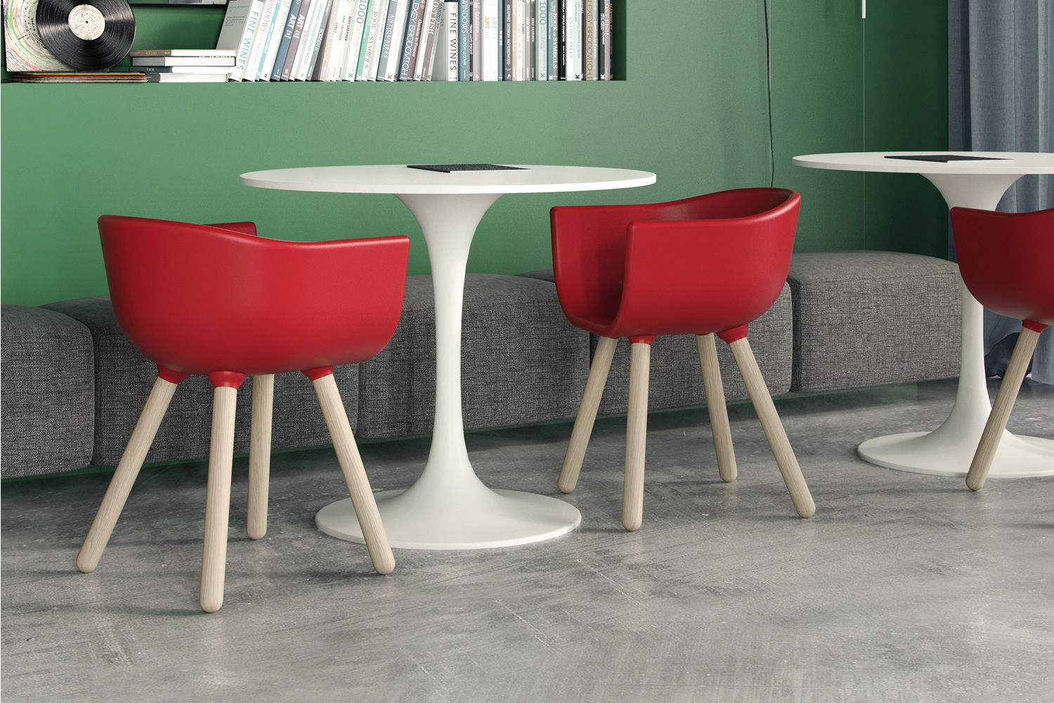 Tulip small poltroncina di design chairs&more in legno e