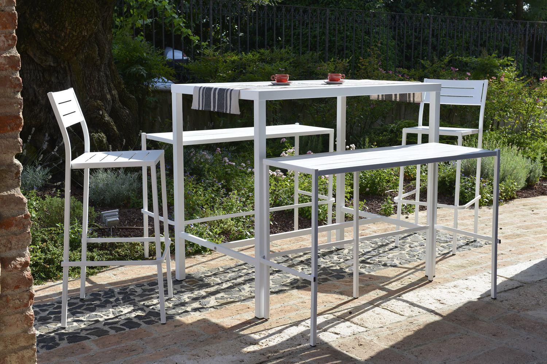 Rig th tavolo alto in metallo diverse misure altezza cm