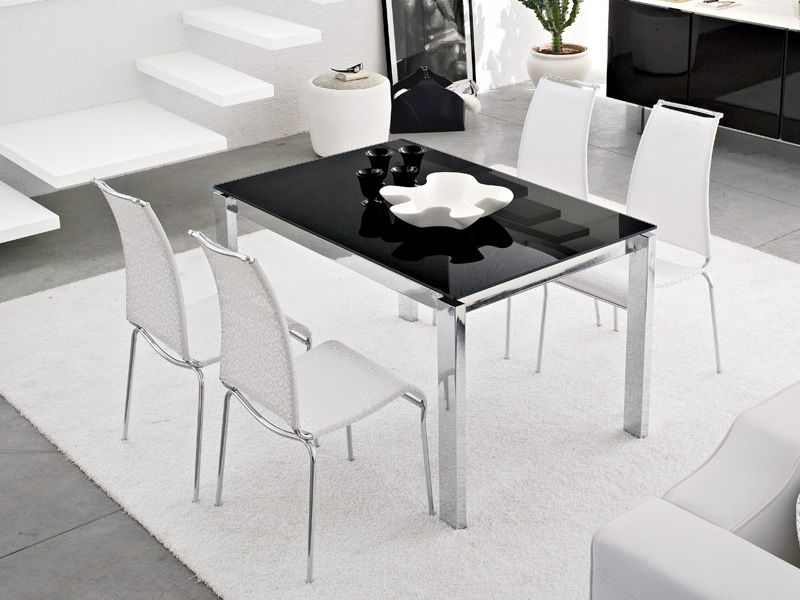 Cb4010 130 baron c tavolo connubia calligaris in for Tavolo nero allungabile