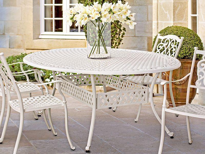 Castello t tavolo in alluminio disponibile in diverse for Tavolo metallo giardino