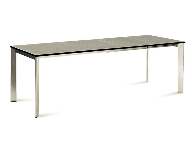 Universe 160 domitalia metal table different top for Table extensible 160 cm