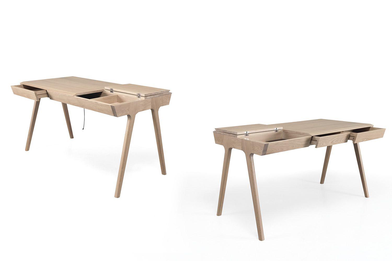 Metis bureau design en bois avec tiroirs et compartiments