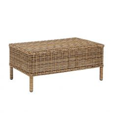 Antigua T - Coffee table in synthetic rattan, 80x50 cm, for garden