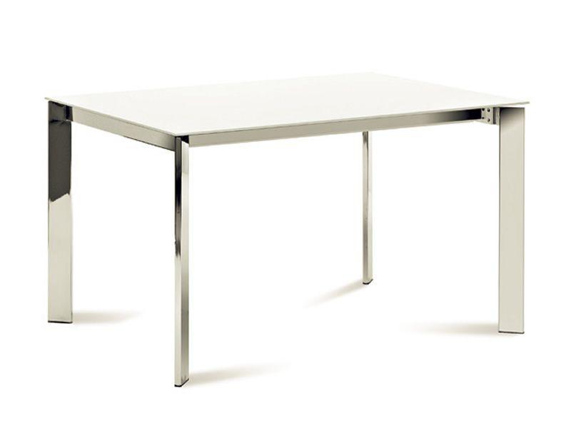 Universe 110 tavolo domitalia in metallo piano vetro in for Tavolo cucina 70 x 110
