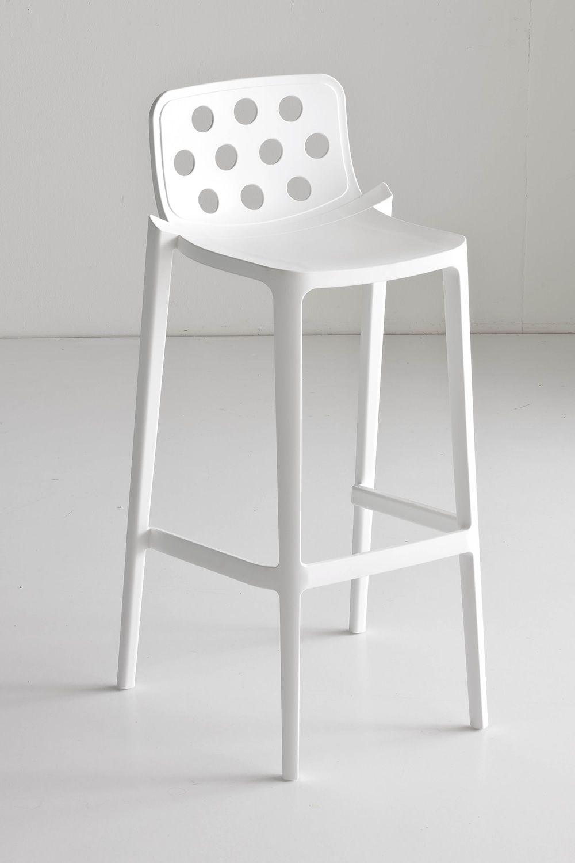 isidoro tabouret haut en m tal et polym re empilable. Black Bedroom Furniture Sets. Home Design Ideas