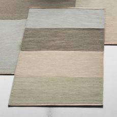 Fields 4 - Teppich aus reiner Wolle, in zwei verschiedenen Abmessungen verfügbar, Ränder aus Leder