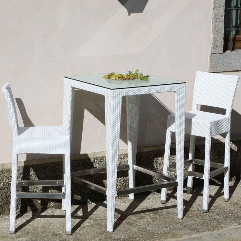 Komodo bar per bar e ristoranti tavolo alto in alluminio - Tavolo alto con sgabelli ...