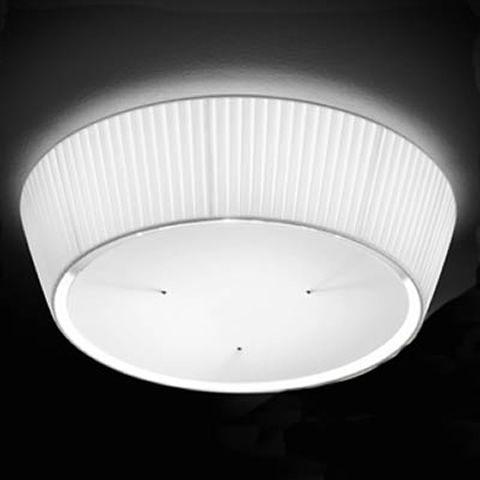 FA2960PS - Lampada da soffitto in tessuto plissettato, in bianco