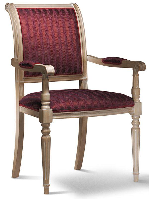 vst108 klassischer gepolsterter holzsessel verschiedene farben und bez ge sediarreda. Black Bedroom Furniture Sets. Home Design Ideas