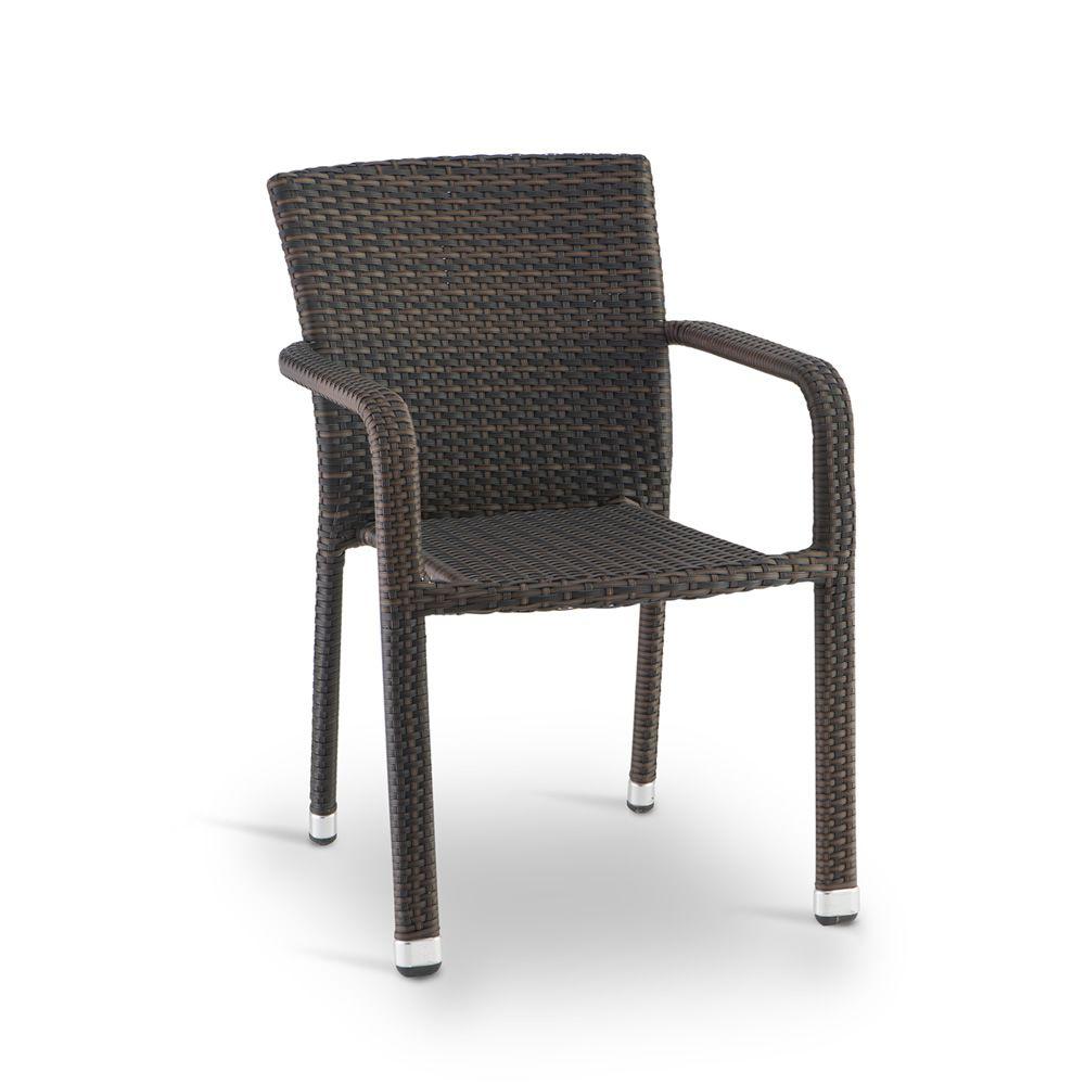 tt19 fauteuil pour jardin en aluminium et imitation rotin empilable en diff rentes couleurs. Black Bedroom Furniture Sets. Home Design Ideas