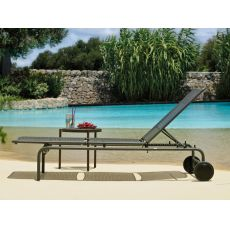 Ghibli - Emu sunbed made of metal, reclining backrest, stackable