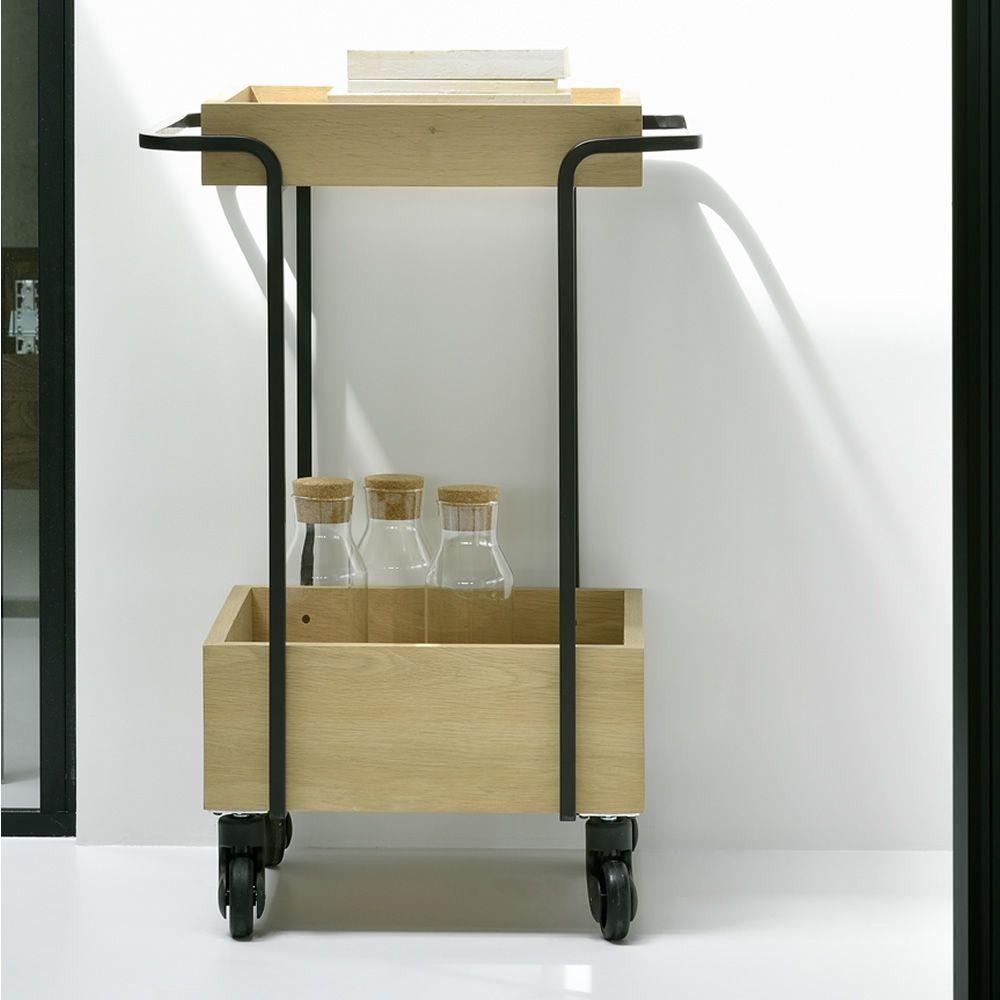 kompagnon chariot universo positivo en m tal et bois avec roulettes sediarreda. Black Bedroom Furniture Sets. Home Design Ideas