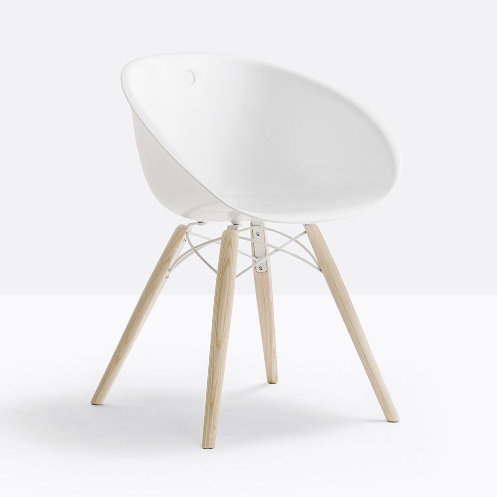 Gliss 904 design sessel pedrali aus holz und kunststoff for Sessel kunststoff design