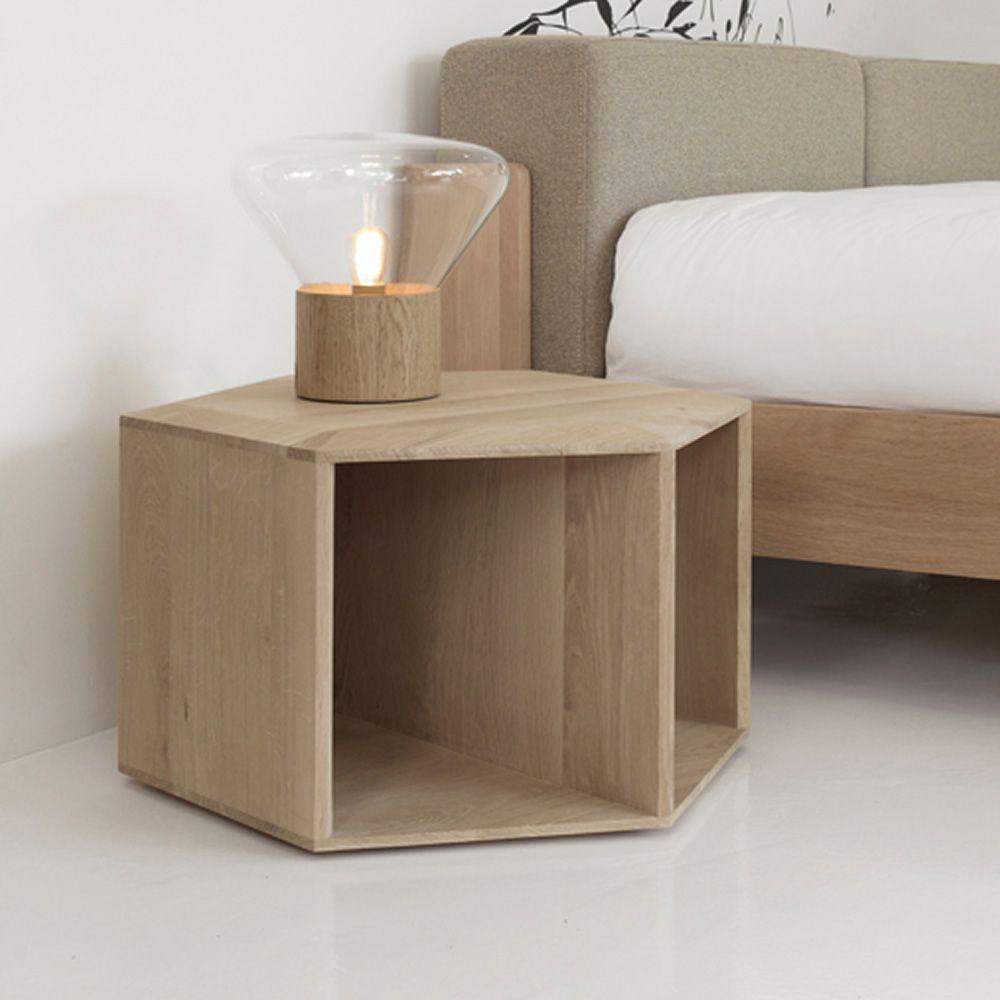 Hexa mesita de centro o de noche en madera disponible en - Mesita de noche moderna ...