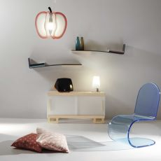 Boracay - Shelf made of methacrylate and wood, different colours available