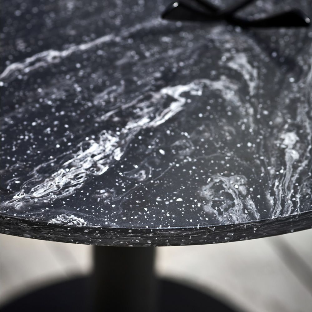 Round Infiniti Round Coffee Table In Metal Top In