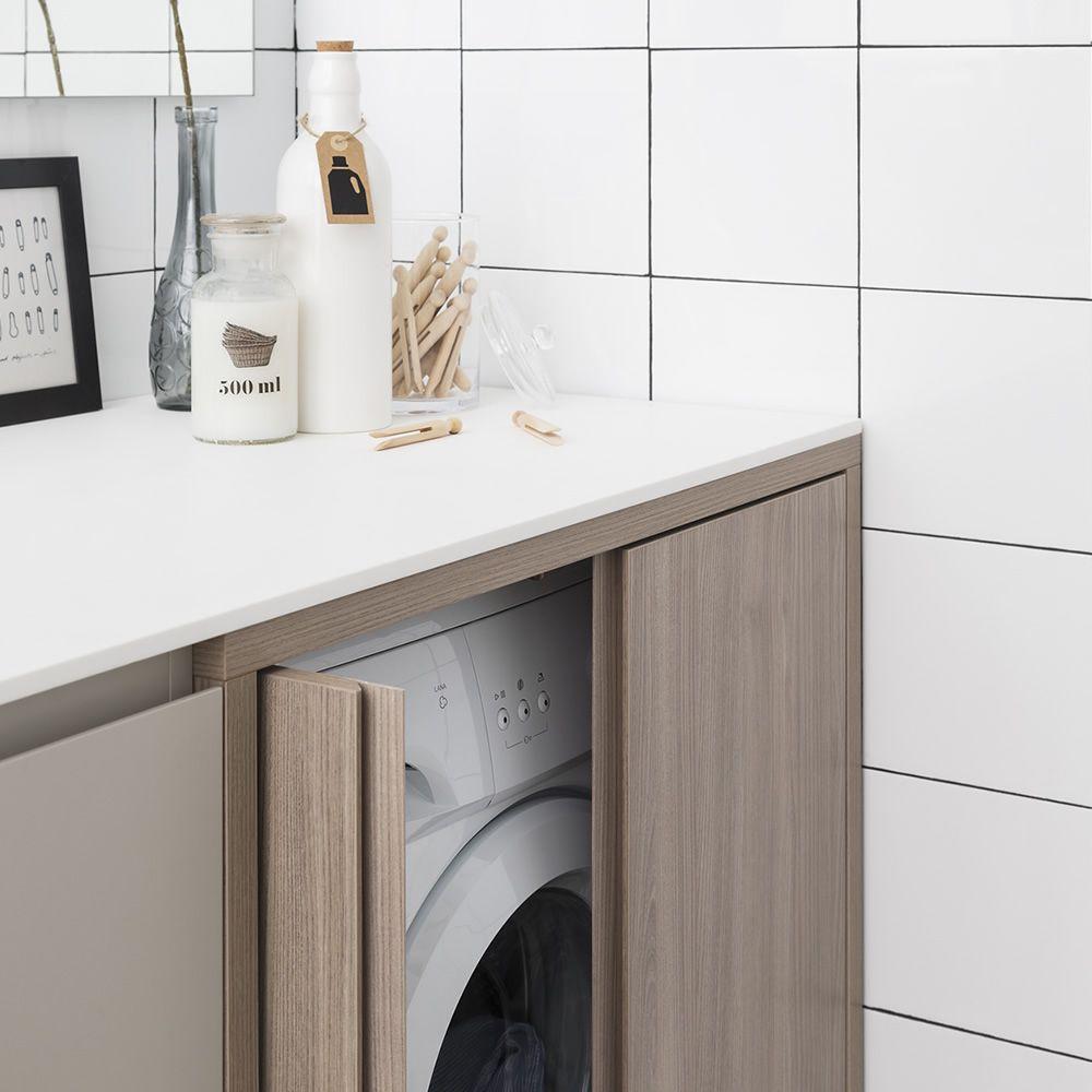 meuble salle de bain avec lave linge integre un lave linge dans la salle de bain et deux. Black Bedroom Furniture Sets. Home Design Ideas