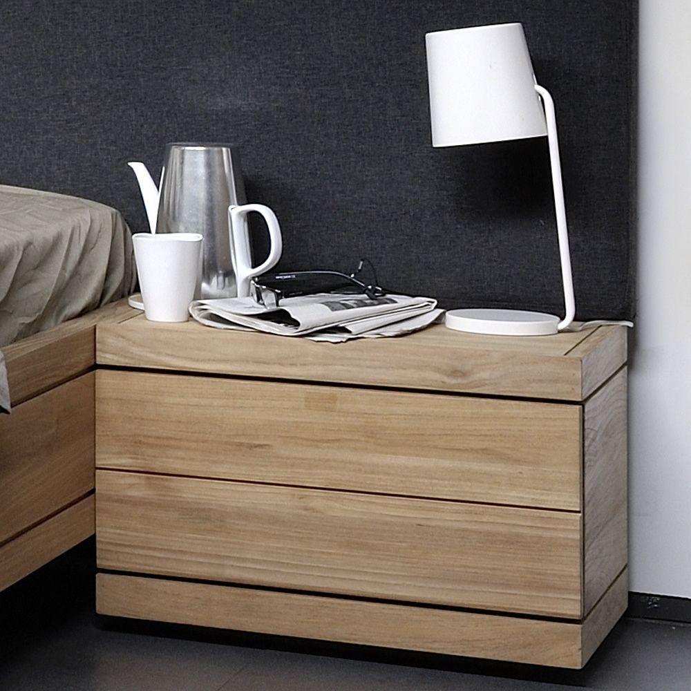 burger n table de chevet ethnicraft en teck avec tiroir sediarreda. Black Bedroom Furniture Sets. Home Design Ideas