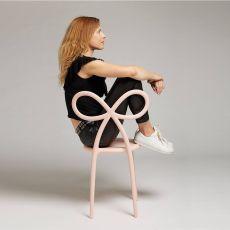 Ribbon Chair - Sedia di design Qeeboo in polipropilene, anche per giardino