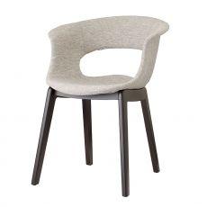 Natural Miss B Pop 2802 - Stuhl aus Holz mit gepolstertem Sitz, in verschiedenen Farben verfügbar