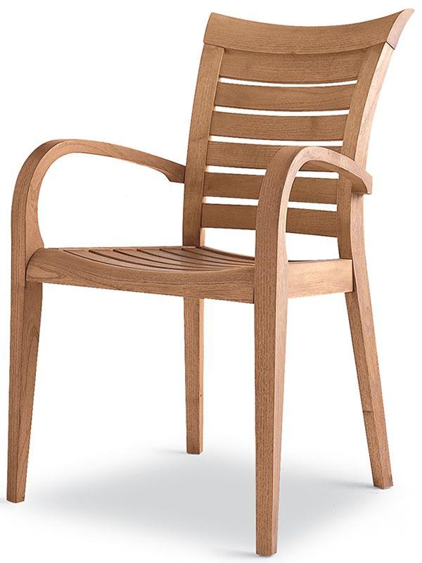 mirage b sedia con braccioli in legno di robinia per giardino sediarreda. Black Bedroom Furniture Sets. Home Design Ideas