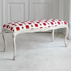 Chatarina 1575 - Tonin Casa classic wooden bench, different upholsteries and colors available