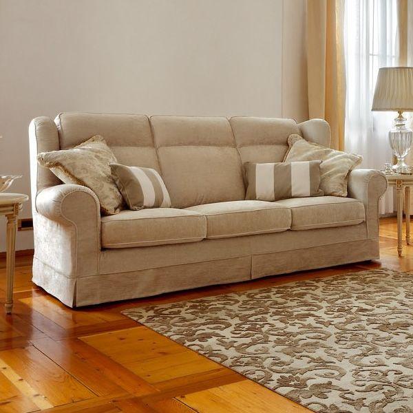 Giunone divano classico 3 posti cuscini schienale con - Cuscini schienale divano ...