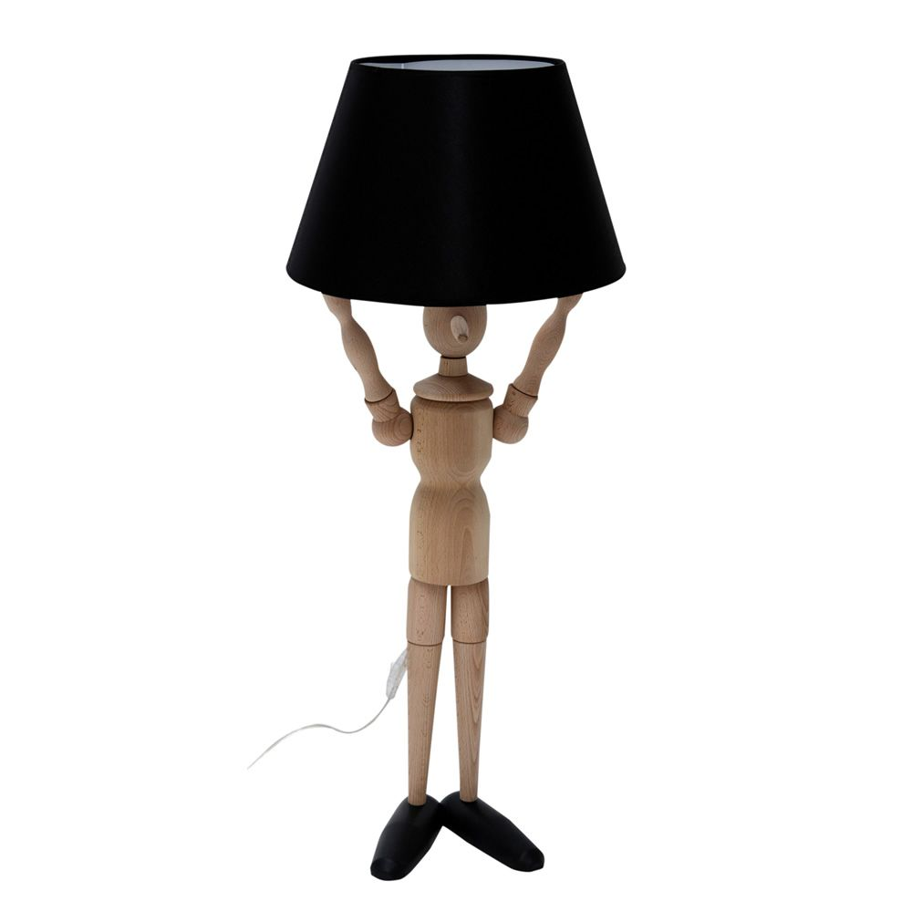Pinocchio-L - Lampada da terra Valsecchi in legno con paralume in ...