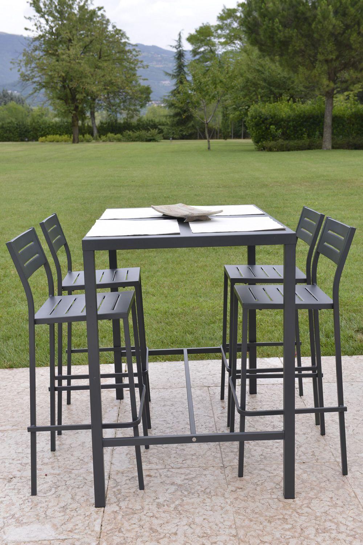 rig72th tavolo alto in metallo diversi colori e misure per giardino altezza 105 cm sediarreda. Black Bedroom Furniture Sets. Home Design Ideas