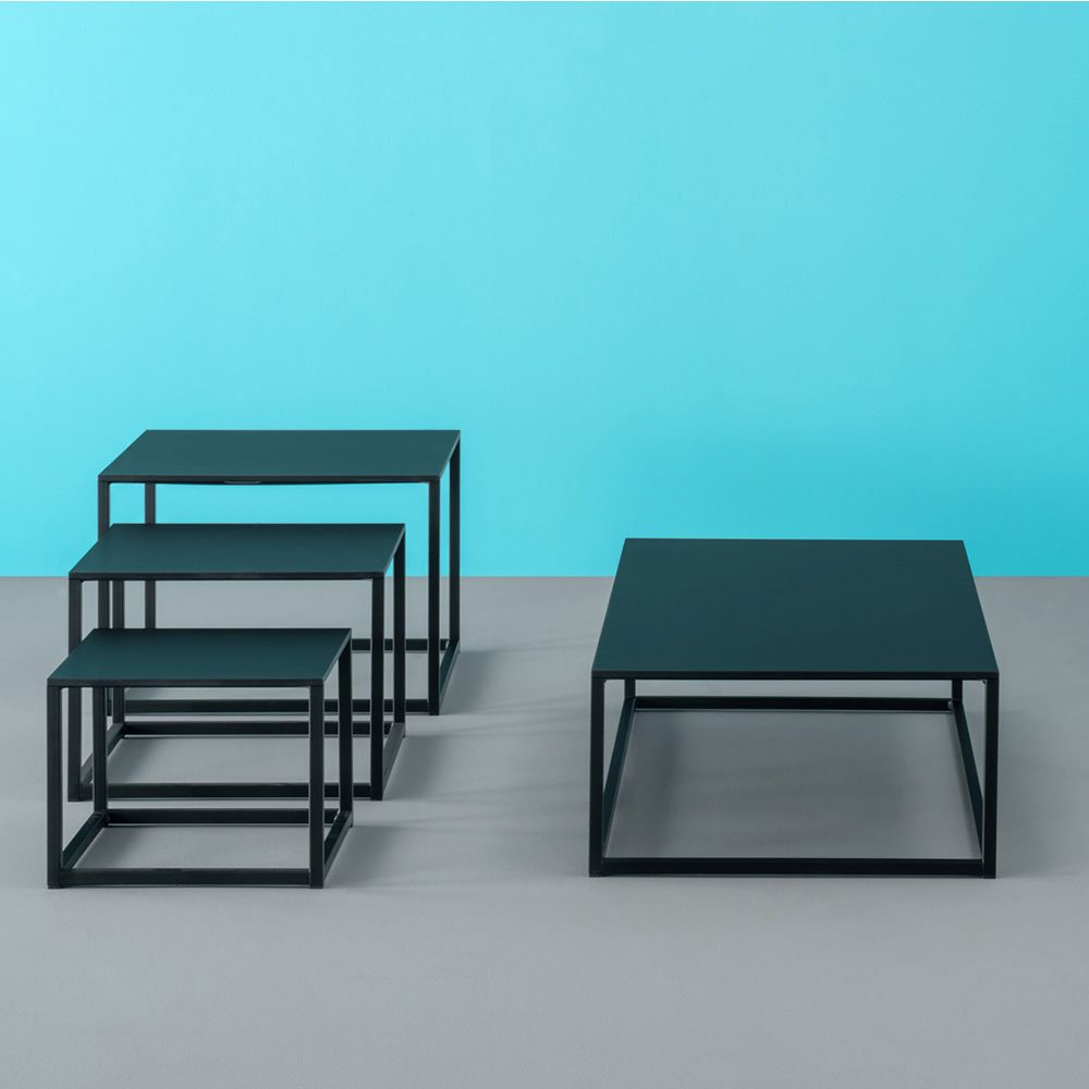 Code design low table by pedrali in metal with laminate for Low table design