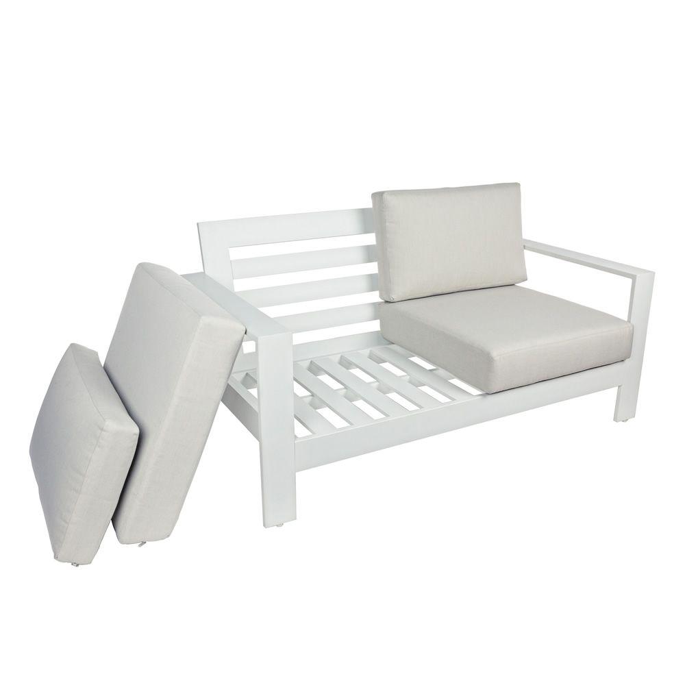 Nasso set set in alluminio per giardino 2 poltroncine for Divanetto giardino offerta