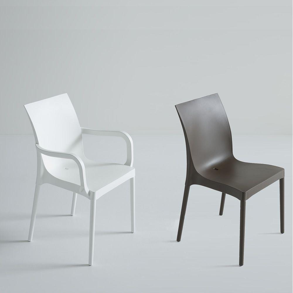 Iris f r bars und restaurants moderner stuhl f r bars und restaurants aus metall - Bequeme stuhle mit armlehnen ...