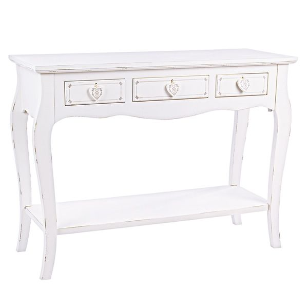 ortigia console shabby chic en bois avec tiroirs. Black Bedroom Furniture Sets. Home Design Ideas