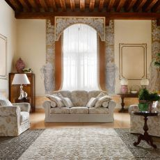 Artemide - Classic sofa, 2, 3 or 3-XL seats, with completely removable covering in fabric or imitation leather