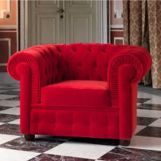 800 - Classic armchair Domingo Salotti, available in different finishes and colors