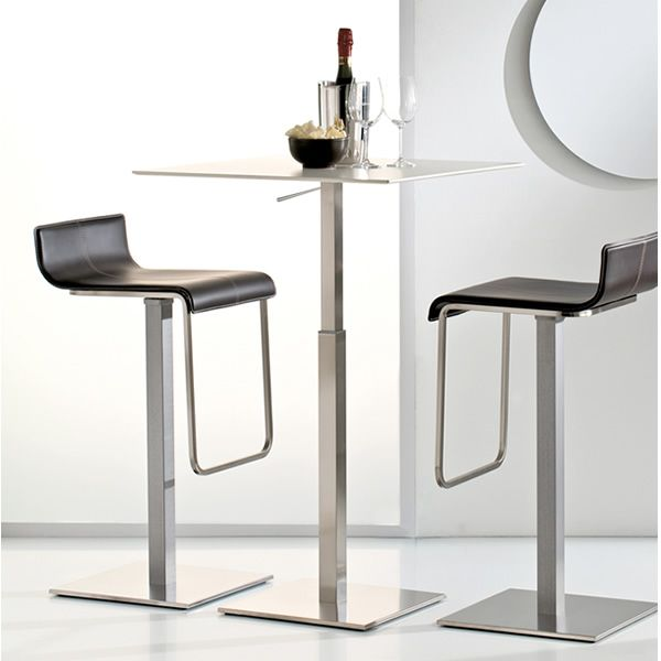 inox 4402h for bars and restaurants table base in metal for bar and restaurant adjustable. Black Bedroom Furniture Sets. Home Design Ideas